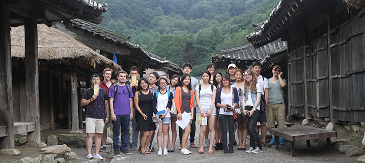 Students spend a summer session in South Korea.