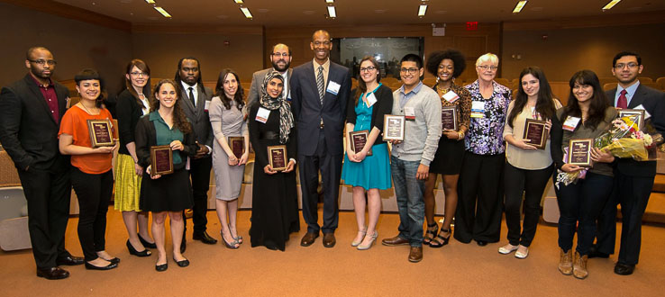 BCAA Student Award winners at annual meeting.
