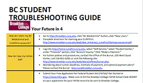 Student Troubleshooting Guide