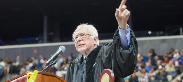 1<p>U.S. Senator for Vermont spoke to the Brooklyn College Class of 2017 about the necessity for active political engagement.</p>